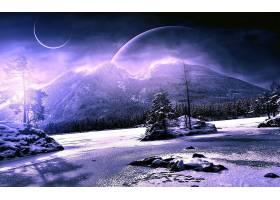 风景,冬天的,壁纸,(1)