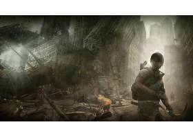 张贴,启示录的,城市,毁灭,勇士,壁纸,