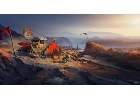 张贴,启示录的,摩托车,山,营地,壁纸,