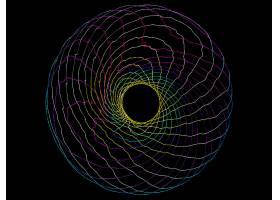 抽象,不规则碎片形,超视野,黑色,线,彩色,3D,壁纸,