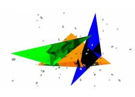 抽象,彩色,三角,搅拌机,3D,壁纸,
