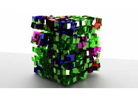 抽象,彩色,玻璃,搅拌机,数字的,艺术,3D,壁纸,