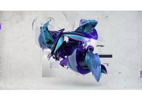 抽象,形状,数字的,艺术,CGI,3D,壁纸,