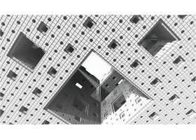 抽象,不规则碎片形,平方,包厢,几何学,Mandelbulber,3D,壁纸,