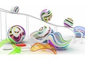 抽象,数字的,艺术,艺术的,3D,壁纸,