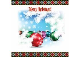 红色装饰球圣诞节装饰球插画设计
