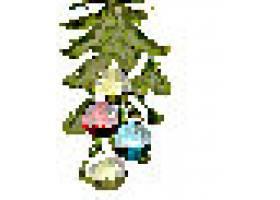 圣诞树装饰球插画健身