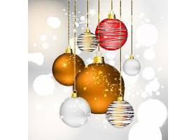 新年圣诞节装饰球插画设计