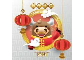 2021春节牛年展板