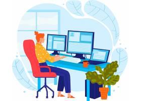 电商物流快递电子商务主题人物插画设计