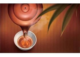茶袋红茶茶粉主题矢量插画设计