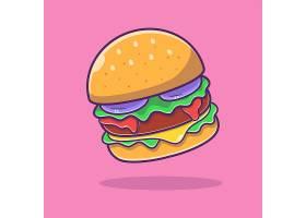 汉堡包主题矢量插画设计