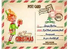 圣诞节明信片矢量素材