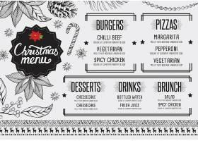 圣诞节主题餐饮行业菜单菜牌模板