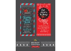 圣诞节吊卡设计矢量素材图片