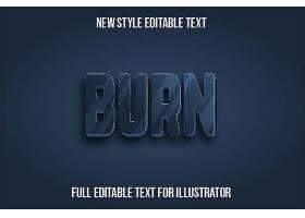 深色背景立体主题可编辑英文字体样式设计