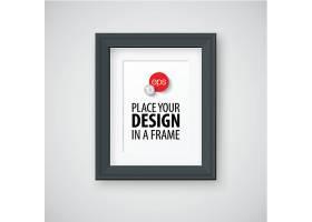 黑色相框设计矢量素材