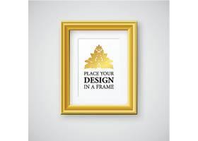 金色相框设计矢量素材