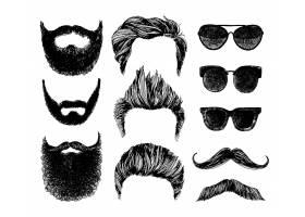 男子时尚胡子发型脸型形象设计