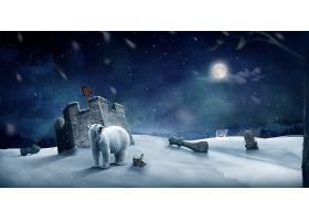 比赛,象棋,极地的,熊,动物,冬天的,壁纸,