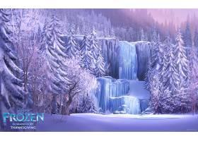 电影,冰冻的,冬天的,瀑布,壁纸,