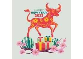 礼盒图标平泰越南语新年