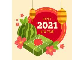 越南2021年新年手绘素材