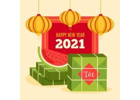 越南新年2021年配西瓜