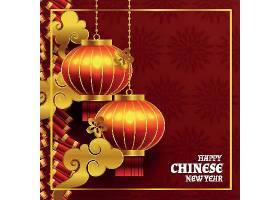 金色中国新年2021年背景