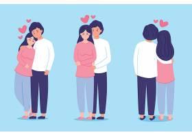 手绘情人节情侣插画系列