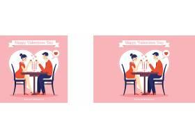 情人节背景与情侣约会烛光晚餐