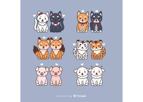卡通情人节情侣动物收藏_35620680102