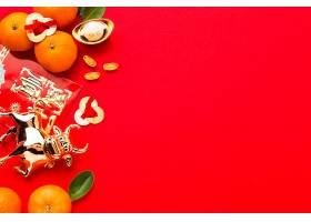 平躺着新年中国2021年美味的柑橘和牛_1114383401