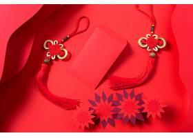 红色新年立体红包背景素材