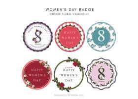 妇女节复古标签_16501290102