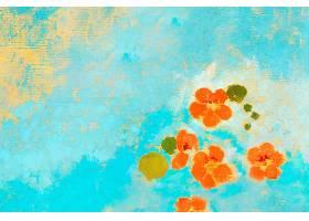 橙色油画花朵_45575480101
