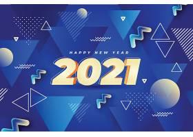 带有抽象蓝色形状的新年背景_111863020102