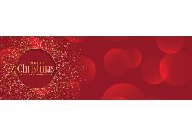圣诞节以金色闪闪发光的红色为背景_35522610101