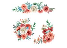 花卉余辉花束水彩画插图_7390579