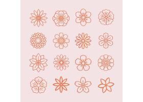 花卉图案和花卉图标_3834212