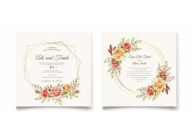 手绘结婚卡片模板_9293747
