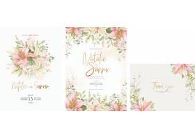 手绘花卉婚礼邀请卡套装_11927653