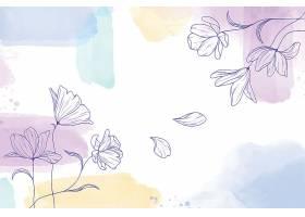 手绘花卉水彩画背景_12548904