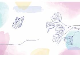 手绘花卉水彩画背景_12548905