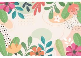 抽象平面花卉背景_12954593