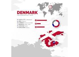 等轴测丹麦地图信息图_11521149