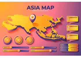 等轴测亚洲地图信息图_10878713