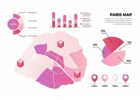 梯度巴黎城市地图信息图_12064529