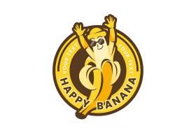 香蕉字标识模板_11299367