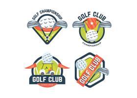 详细的高尔夫标识集合_12505334